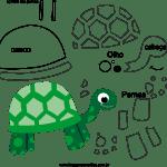 Molde de tartaruga 1 para Feltro, Eva e Artesanato