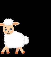 Molde de ovelha 1 para Eva, Feltro, e artesanato