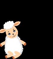 Molde de ovelha 2 para eva, feltro e artesanato