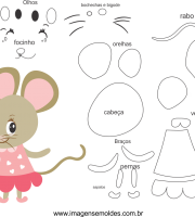 Molde de rato1 para eva, feltro e artesanato