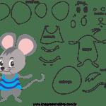 Molde de Rato 2 para Feltro – EVA e Artesanato