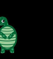Molde de tartaruga 2 para eva, feltro e artesanato