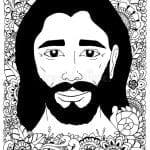 DESENHOS PARA COLORIR JESUS NAS FLORES
