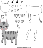 Molde de animal, zebra 1, para eva, feltro e artesanato