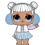 Bonecas LOL – Serie 2 – Chill Out Club Snow Angel PNG