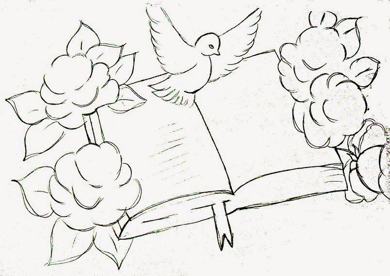 desenhos para colorir bÍblia com rosas e pomba da paz