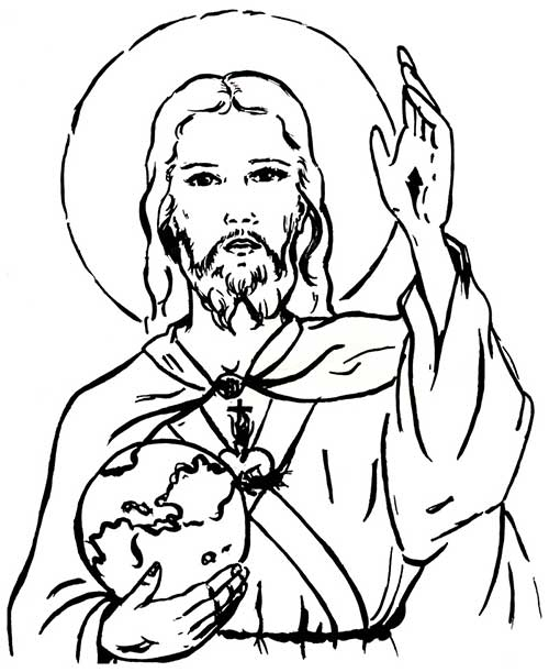 desenhos para colorir jesus cristo