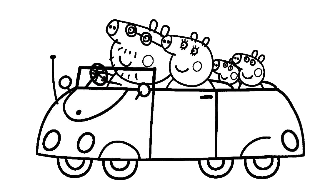 personagens de peppa pig para colorir