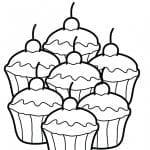 Desenhos Infantis para Colorir de Cupcakes