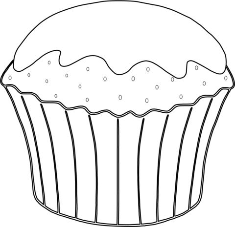 kleurplaat lege cupcake desenhos desenho infantil para