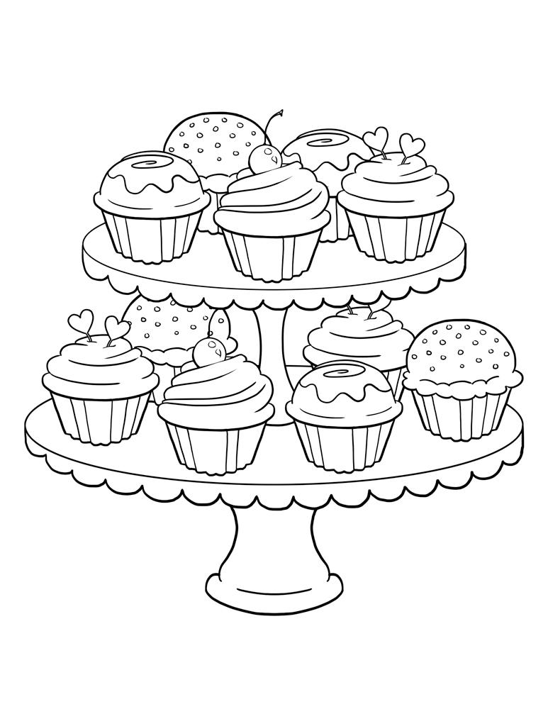 Desenhos desenho infantil para colorir de cupcake - Dessin cupcake ...