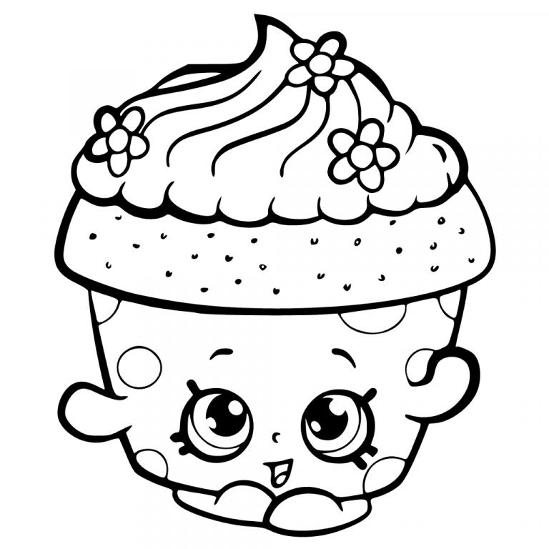 Desenho Infantil Para Colorir De Cupcake