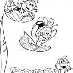 Desenhos Infantis para colori de Abelha Maia