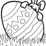 Desenhos Infantis para colorir de Coelhinho da Páscoa