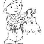 Desenhos Infantis para colorir do Bob, o Construtor