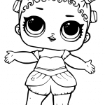 Desenhos para colorir das bonecas LOL SURPRESA