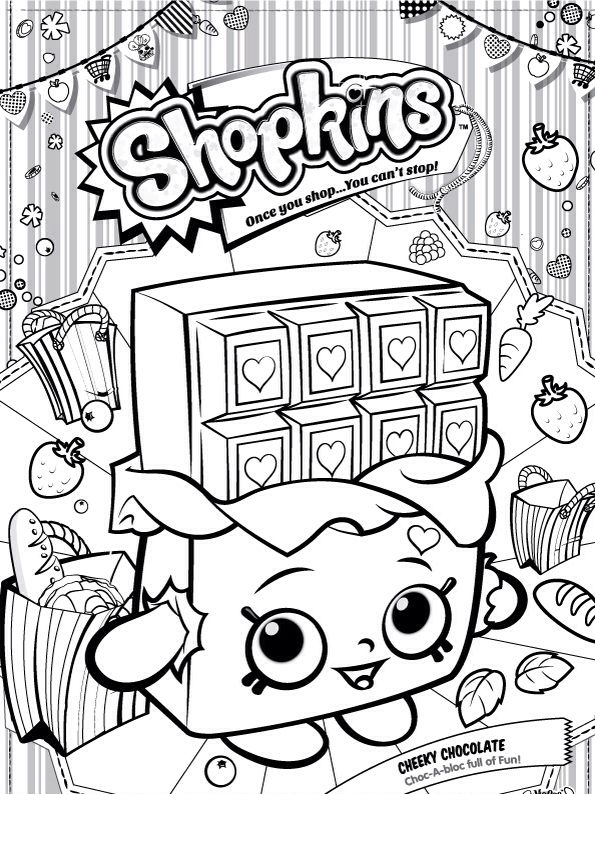 desenhos infantis para colorir dos shopkins imagens e moldes