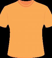 Mockup Camiseta Laranja Editável