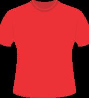 Mockup Camiseta Vermelha Editável