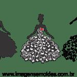 Molde de Casamento Noiva 1 para Feltro – EVA e Artesanato