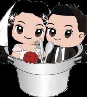 Imagens png de noivos casamento 03
