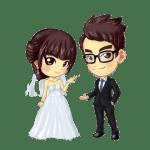 Imagens png de noivos casamento 22