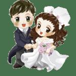 Imagens png de noivos casamento 23