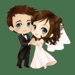 Imagens png de noivos casamento 25
