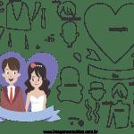 Molde de  Casamento 11 para Feltro – EVA e Artesanato