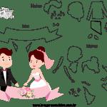 Molde de  Casamento 12 para Feltro – EVA e Artesanato