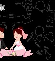 molde de casamento 12 para eva, feltro e artesanato
