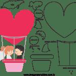 Molde de  Casamento 15 para Feltro – EVA e Artesanato