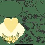 Molde de  Casamento 18 para Feltro – EVA e Artesanato