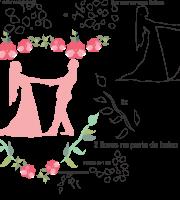 Molde de casamento 6 para eva, feltro e artesanato