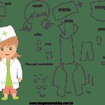 Molde de  Enfermeira 1 para Feltro – EVA e Artesanato