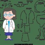 Molde de  Médico 1 para Feltro – EVA e Artesanato