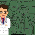 Molde de Médico 7 para Feltro, Eva e Artesanato