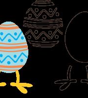 Molde de Páscoa 10 para Eva, Feltro e Artesanato