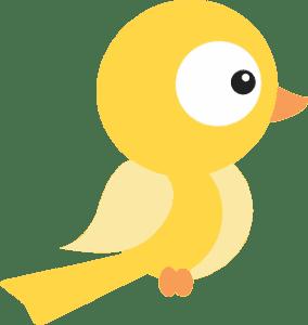 Branca de Neve Cut -Pássaro Amarelo