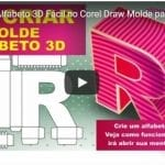 Como Criar Alfabeto 3D Fácil no Corel Draw Molde para Silhouette