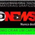 Como Criar Sangria em Materiais Gráficos – Como Fazer um Cartão de Visita Globo News