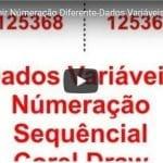 Como Imprimir Numeração Diferente – Dados Variáveis – Impressão Mesclada