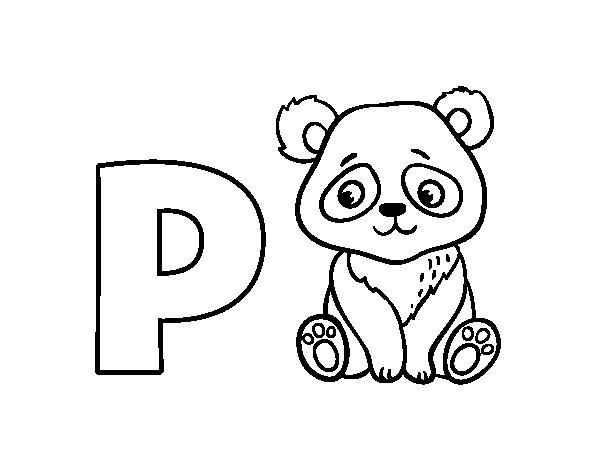 Desenho Para Colorir Da Letra P De Panda