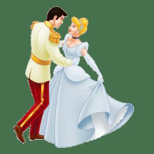 Imagem de Personagens Princesa Cinderela e Príncipe