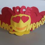 Molde Porta Bombom Emoji com Porta Retrato em E.V.A