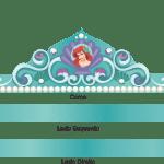 Molde Coroa Princesa Ariel PNG