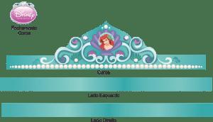 Molde Coroa Princesa Ariel