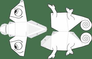 Molde Enrolados Camaleão Pascal