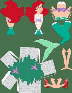 Molde Princesa Ariel Paper Craft