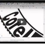 Processo de como criar uma logomarca ou como criar um selo – vídeo acelerado